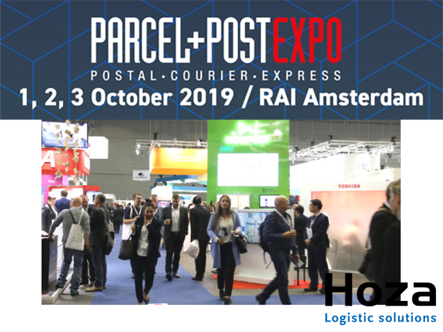 Hoza Logistic solutions at the Parcel + Post Expo 2019 in the RAI Amsterdam